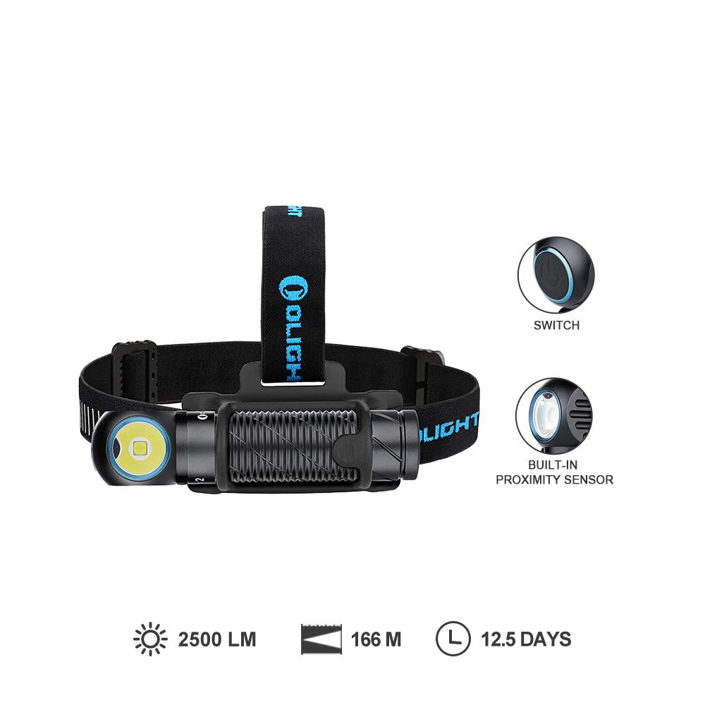 Perun 2 Black Powerful Waterproof Hiking Headlamp