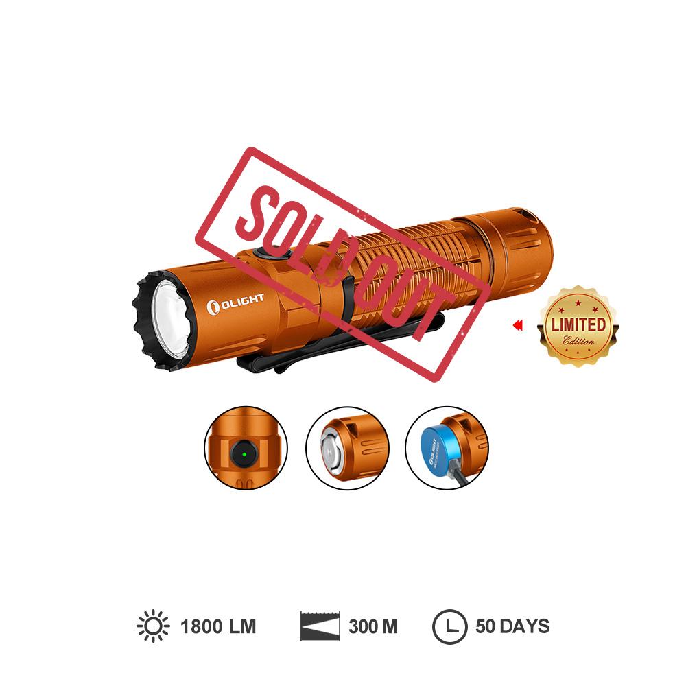 Olight M2R Pro Orange 1800 lumens aggressive LED Flashlight