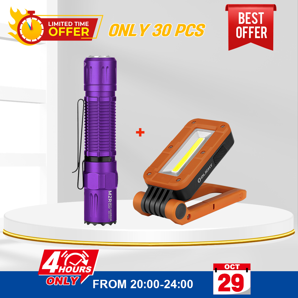 Olight M2R Pro Purple Bundle Swivel Orange, Up to 40% Off