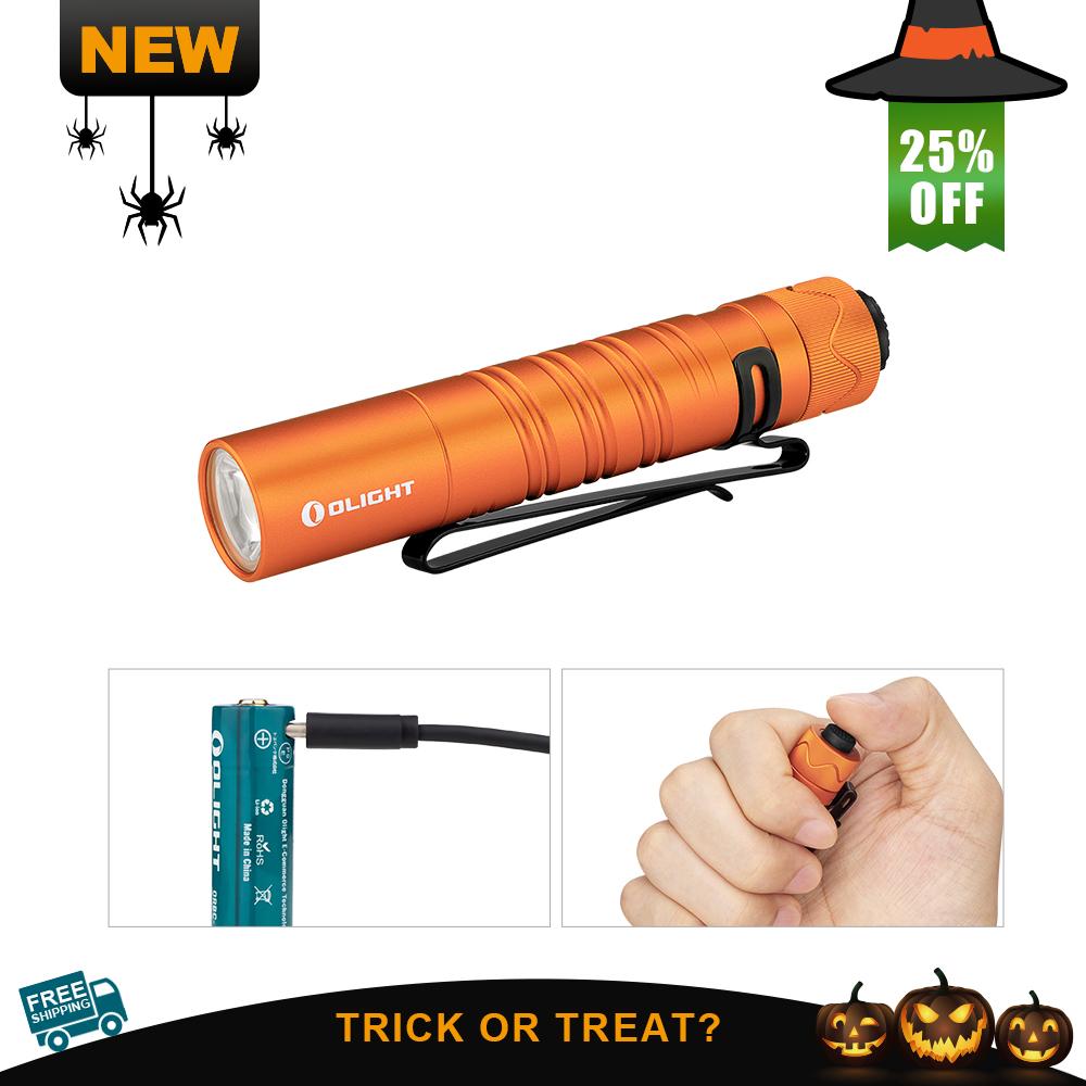 Olight i5R EOS Orange Rechargeable Tail Switch EDC Flashlight