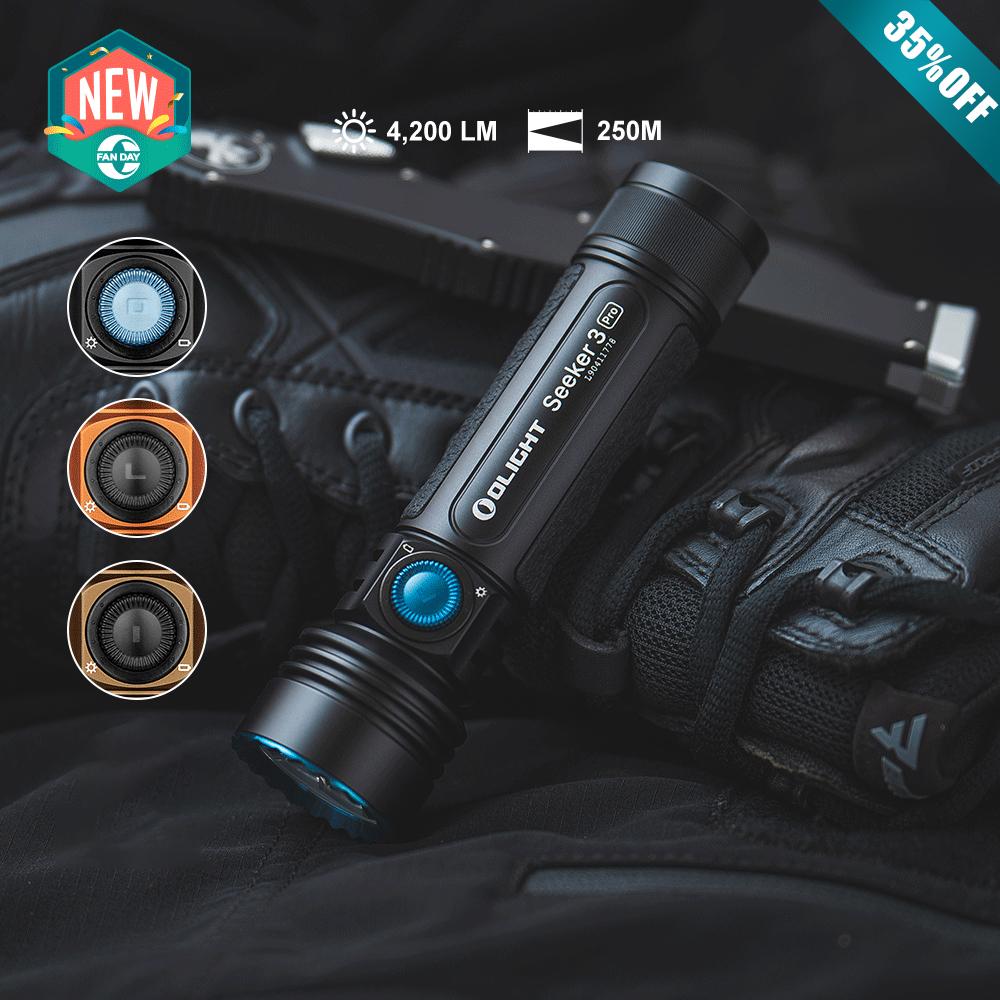 Olight Seeker 3 Pro Ultra-Bright Floodlight Flashlight