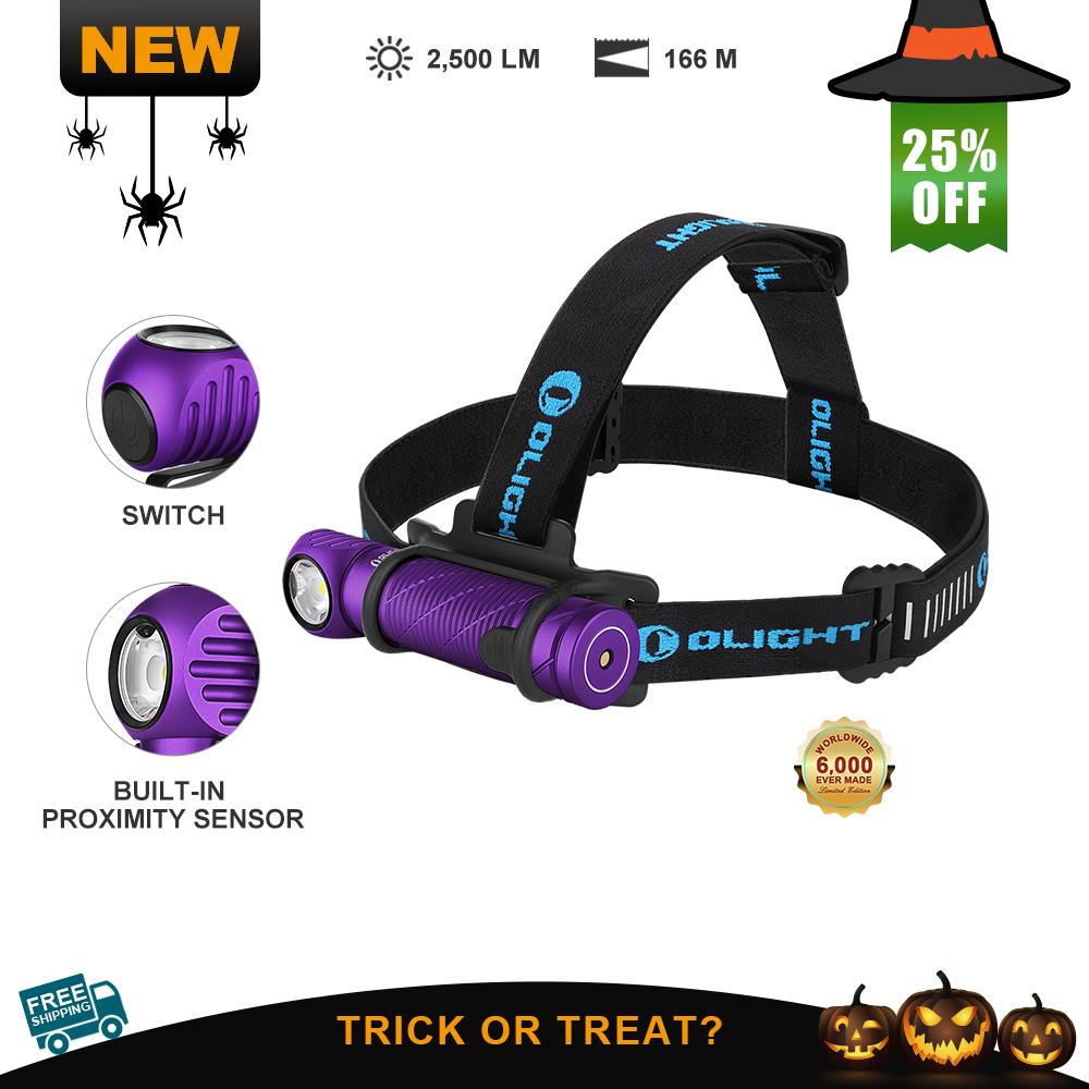 Olight Perun 2 Purple Powerful Waterproof Hiking Headlamp