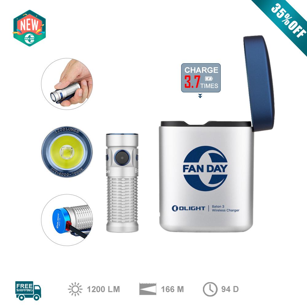 Olight New Baton 3 Premium Edition Silver Color EDC Flashlight