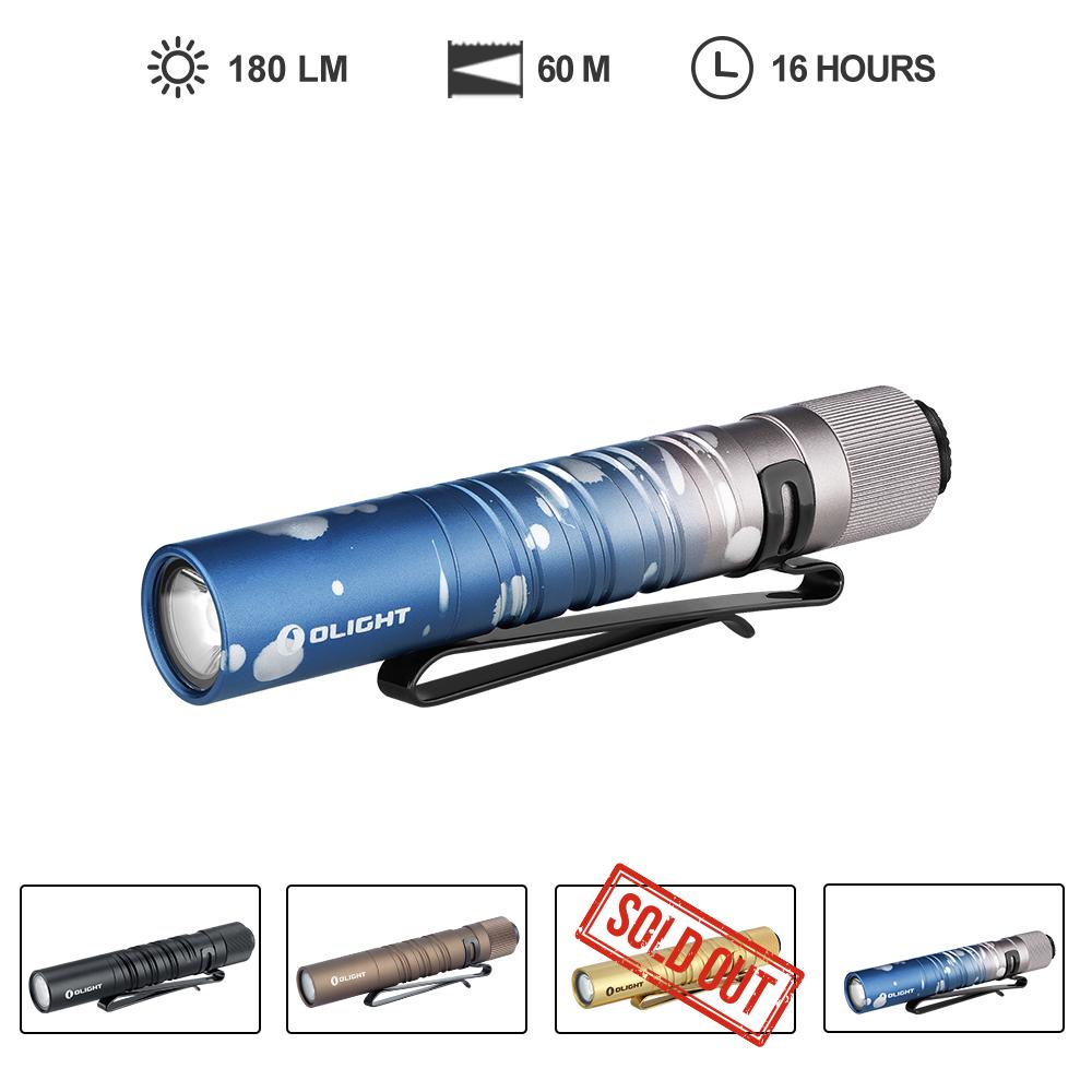 Olight i3T EOS 180 lumens AAA battery powered LED flashlight
