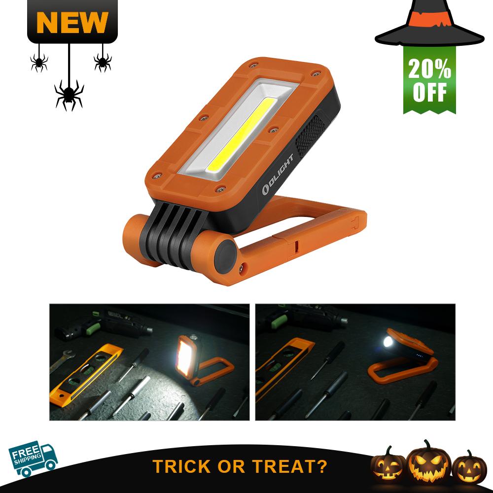 Olight Swivel Orange Compact Rechargeable Magnetic Work Light