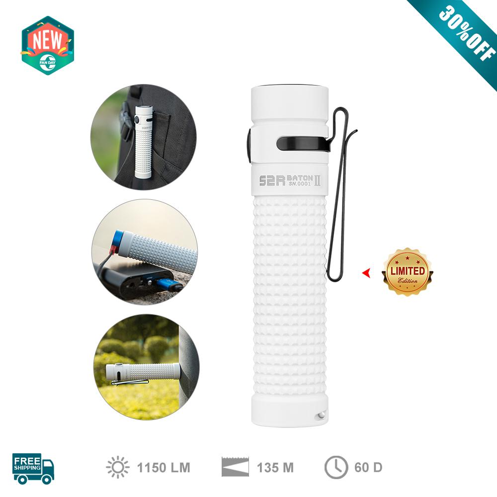 Olight S2R Baton II White Pocket Flashlight