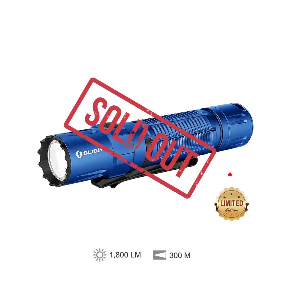 Olight M2R Pro Blue 1800 lumens aggressive LED Flashlight