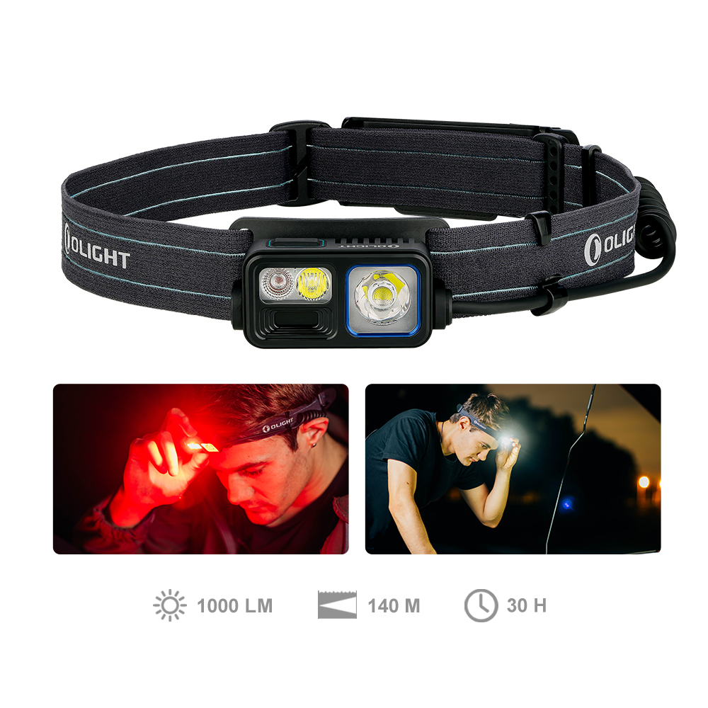Olight Array 2S Rechargable Headlamp with White and Red LED