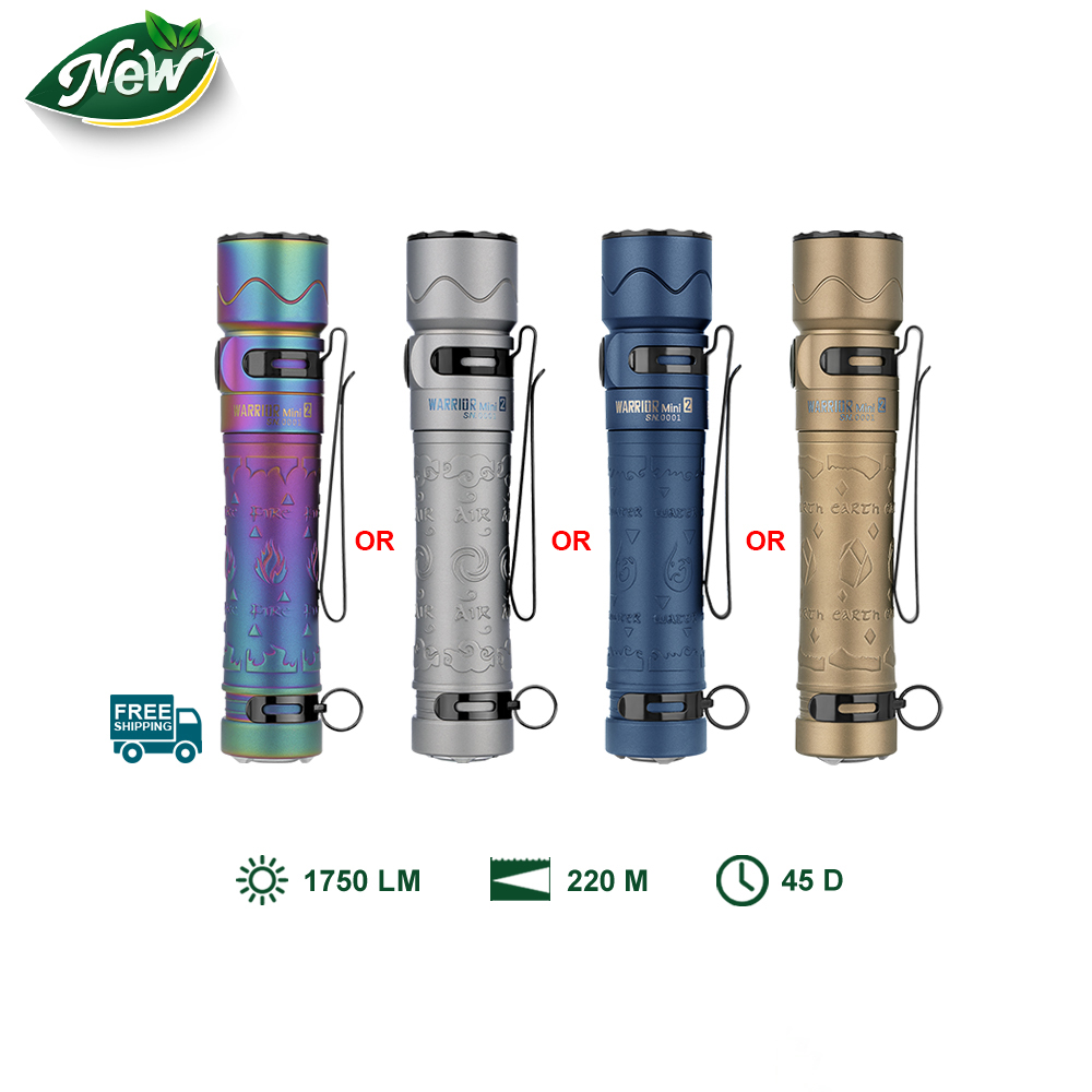 Olight Warrior Mini 2 Four Elements Small LED Flashlight for Everyday Carry