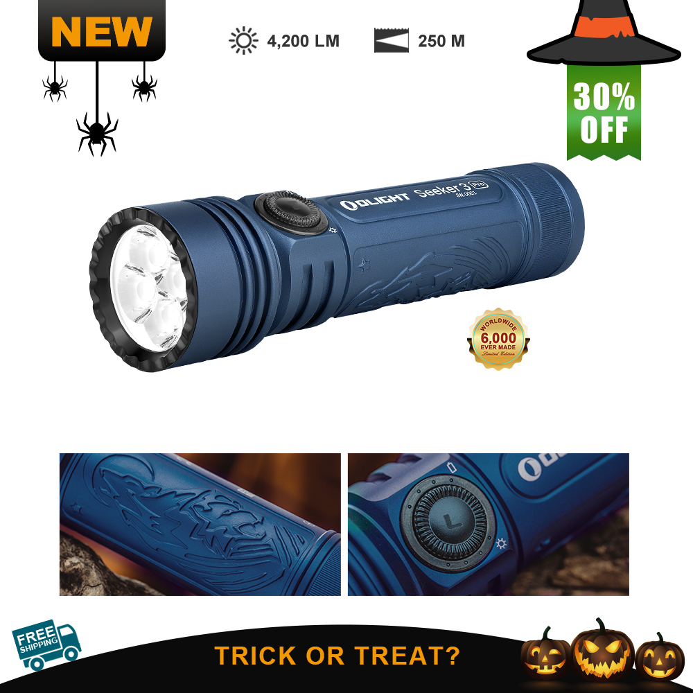 Olight Seeker 3 Pro Night Wolf Ultra-Bright Floodlight Flashlight