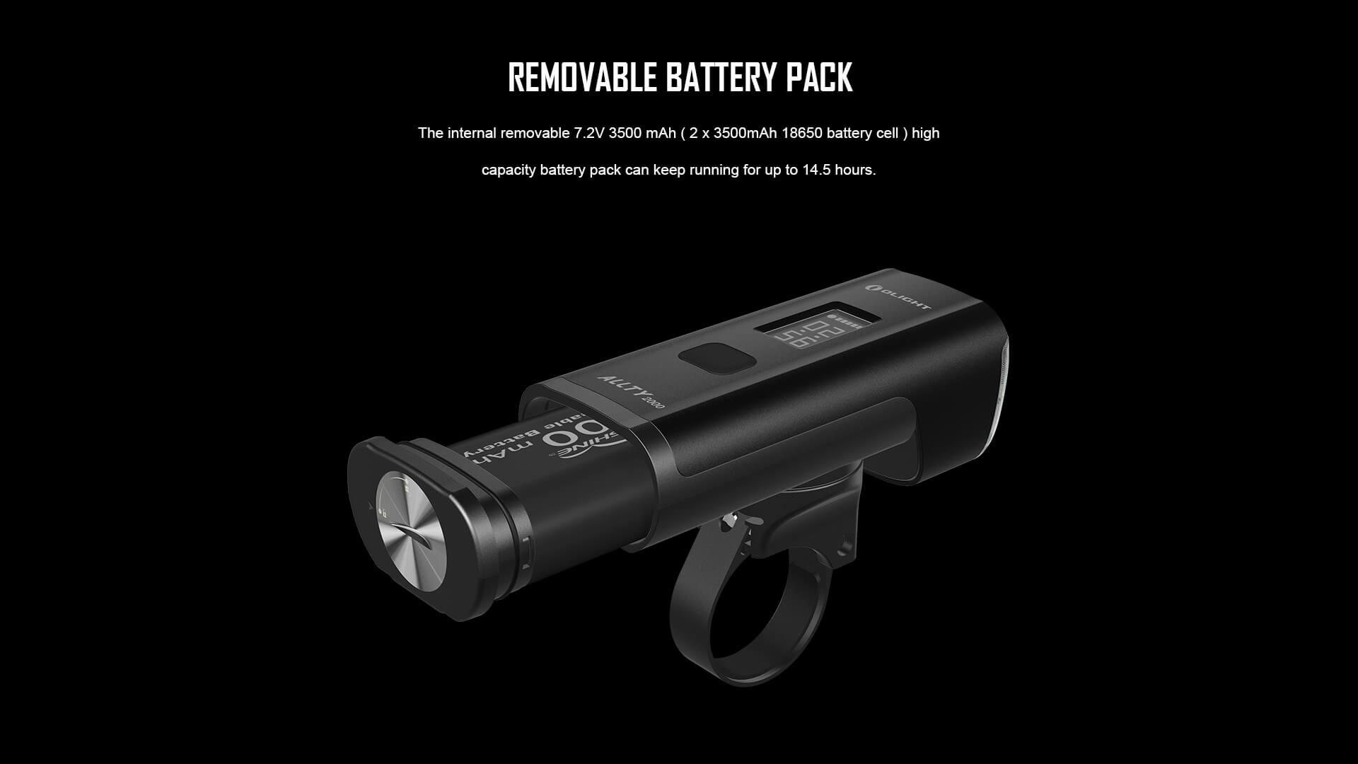 Olight RN2000 Bike Light Battery life